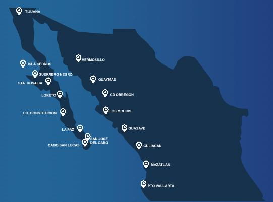 Aero Calafia route map