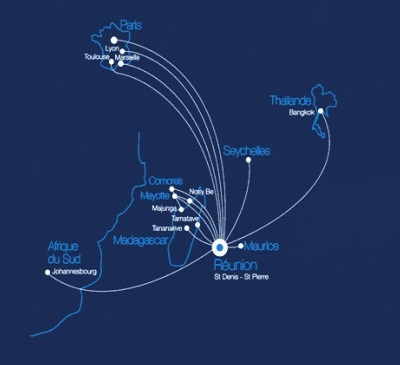 Air Austral route map