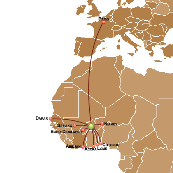 Air Burkina route map