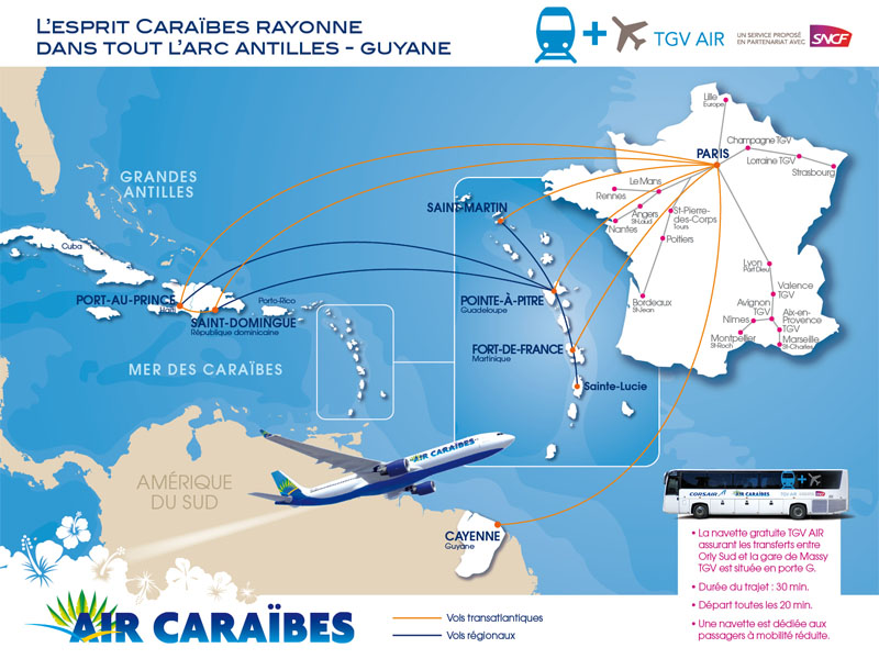 Air Caraibes route map