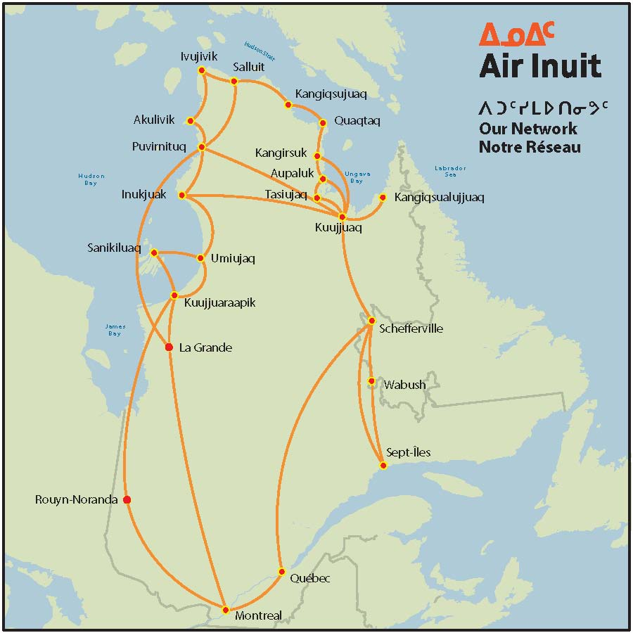 Air Inuit route map