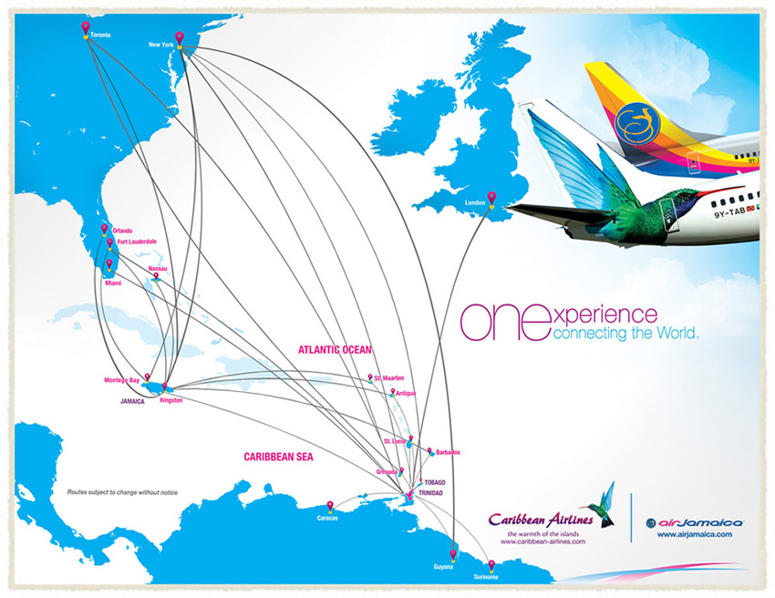 Air Jamaica route map