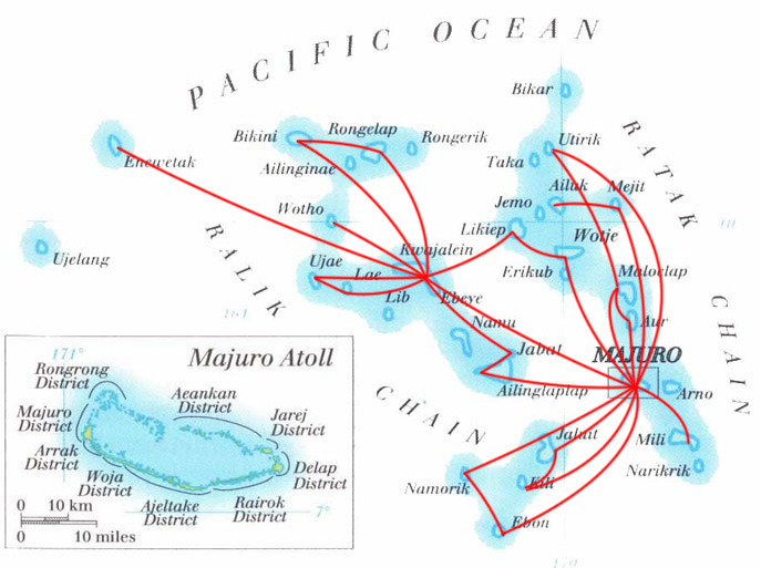 Air Marshall Islands route map