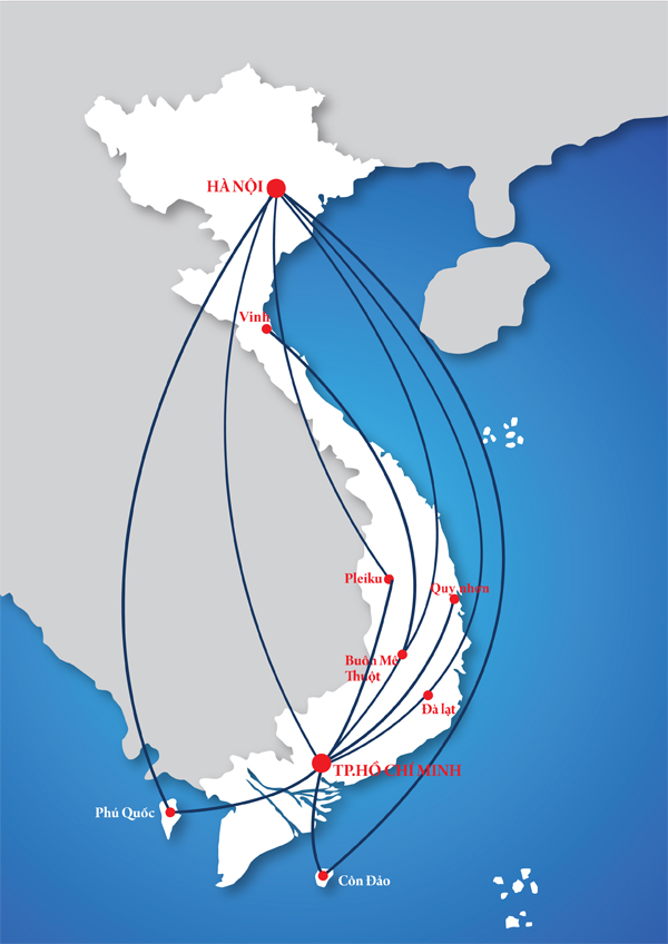 Air Mekong route map