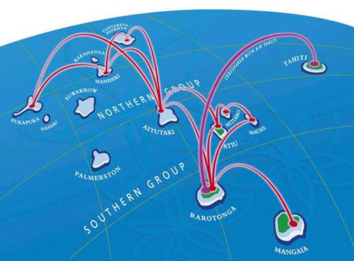 Air Rarotonga route map