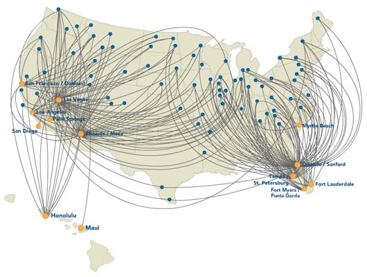 Allegiant Air Route Map