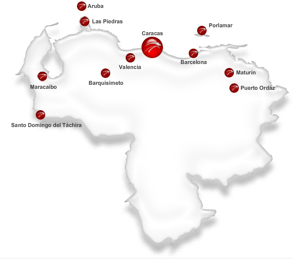 Aserca Airlines route map