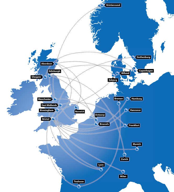 BMI Regional route map