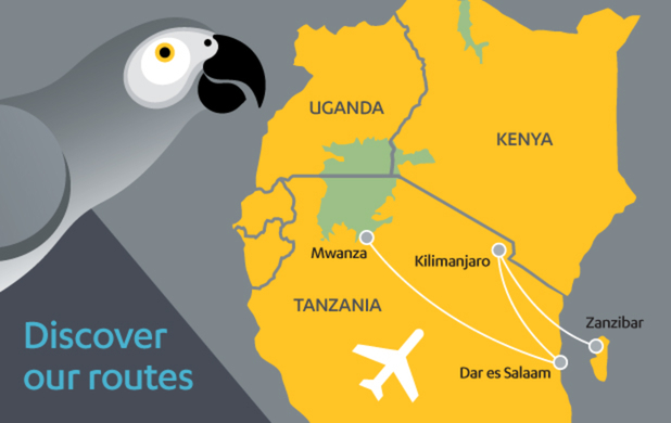 Fastjet route map