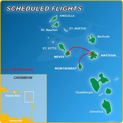 FlyMontserrat route map