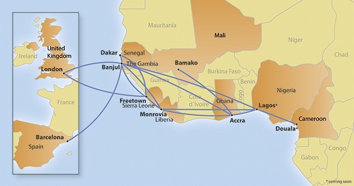 Gambia Bird route map