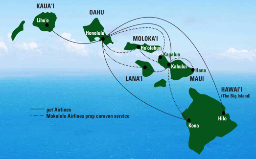 Mesa Airlines route map