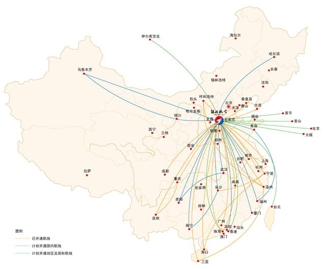 Hebei Airlines route map