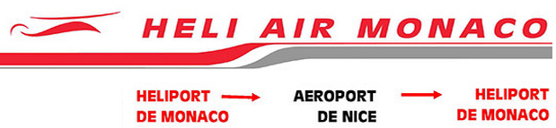 Heli Air Monaco route map