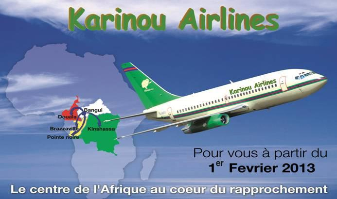 Karinou Airlines route map