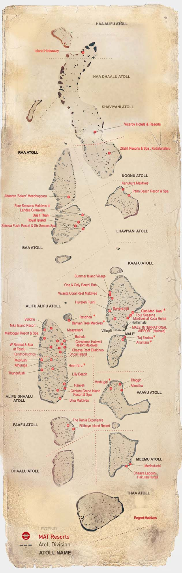 Maldivian Air Taxi route map