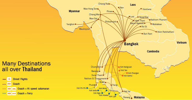 Nok Air route map