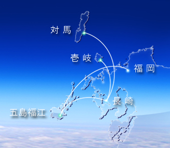 Oriental Air Bridge route map