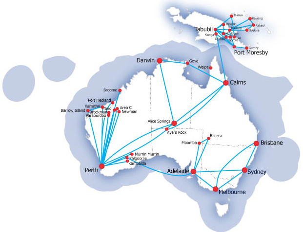 QantasLink Airlink route map