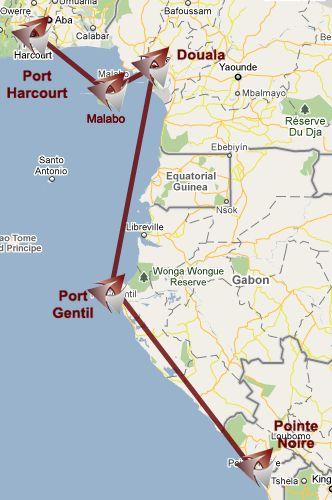 RegionAir route map