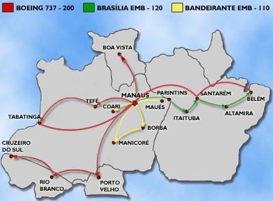 Rico Linhas Aereas route map