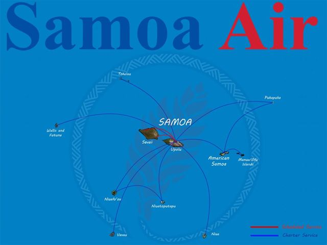 Samoa Air route map