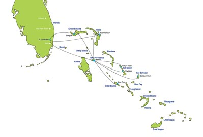 SkyBahamas Airlines route map