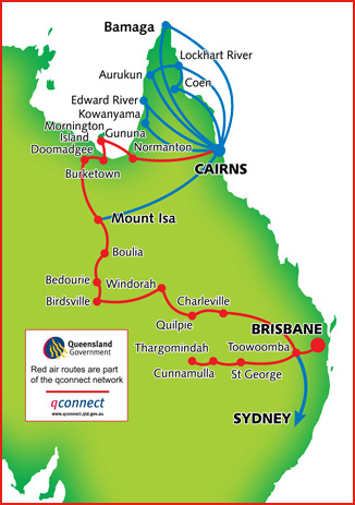 Skytrans Airlines route map