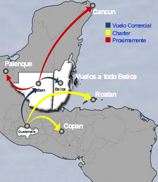 TAG Transportes Aereos Guatemaltecos route map