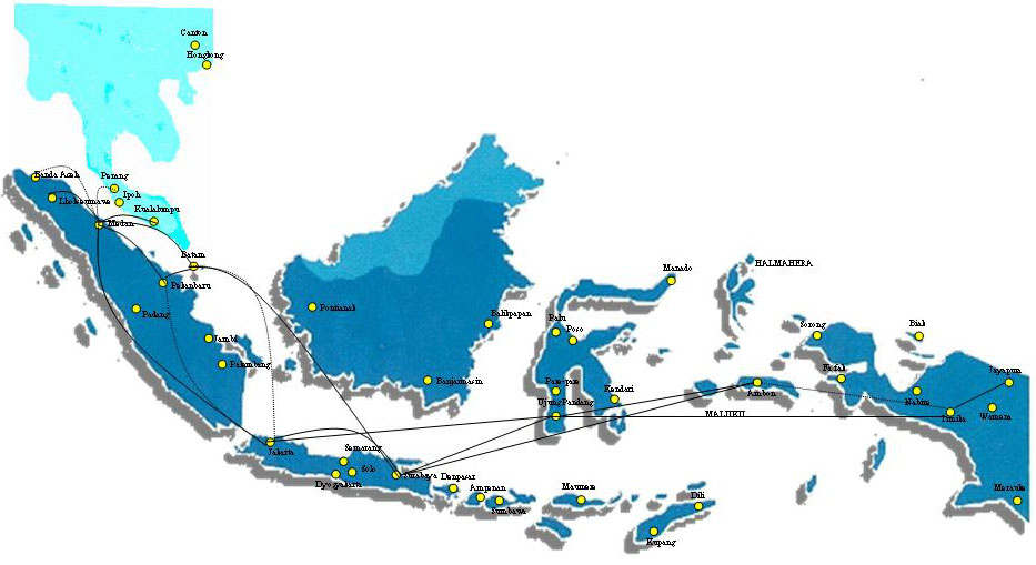 Top Air route map