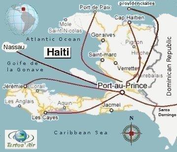 Tortug Air route map