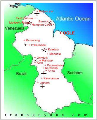 Trans Guyana Airways route map