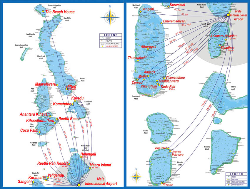 Trans Maldivian Airways route map