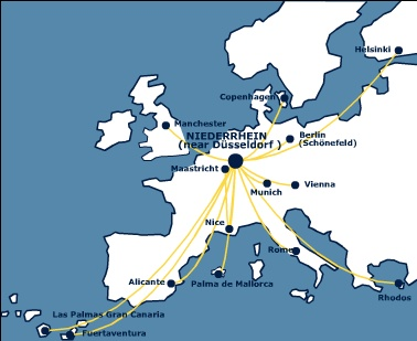 V Bird Airlines route map