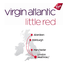 Virgin Atlantic route map - domestic routes, Little Red