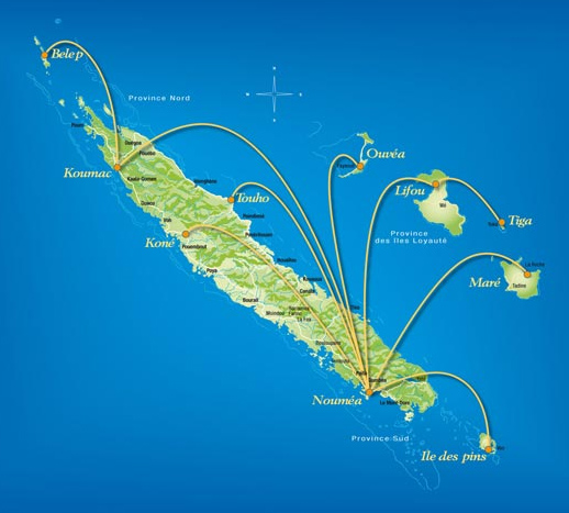 Air Caledonie route map
