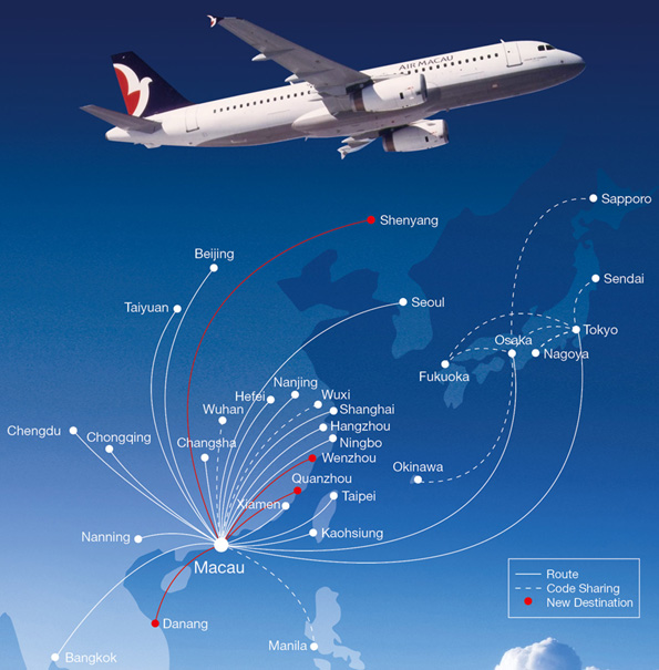 Air Macau route map