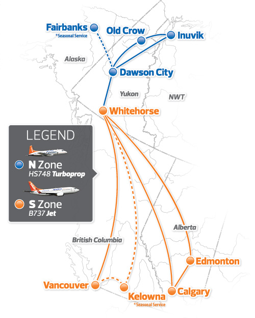 Air North route map