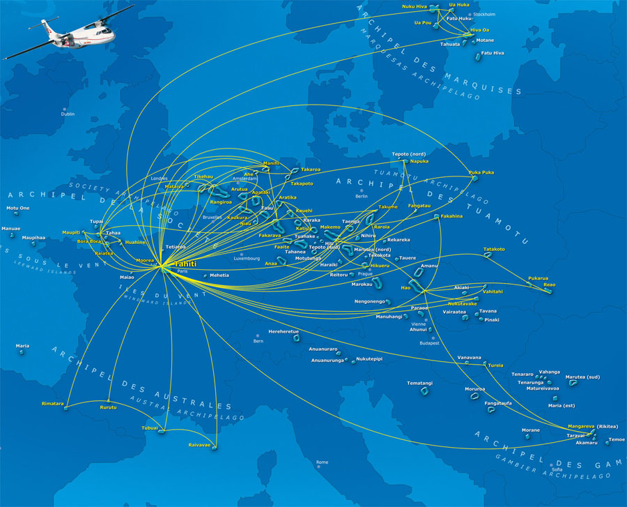 Air Tahiti Nui route map