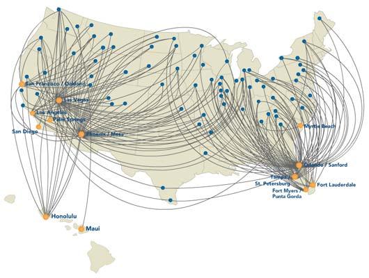 Allegiant Air Route Map Allegiant Air route map Allegiant Air Route Map