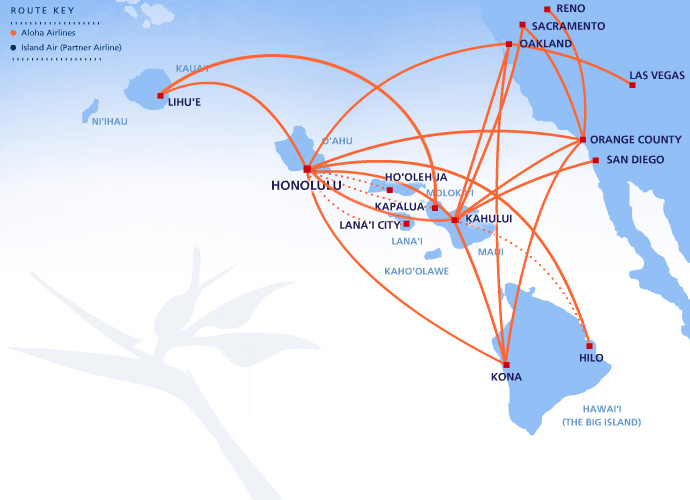Aloha Airlines route map
