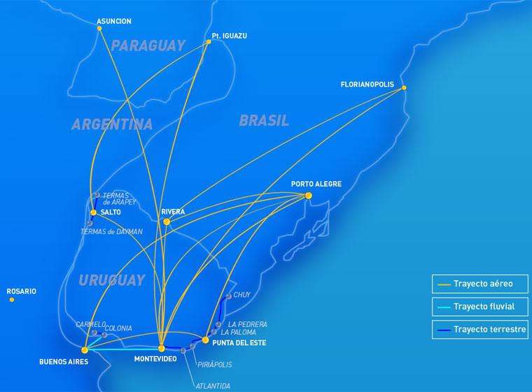 BQB Lineas Aereas route map