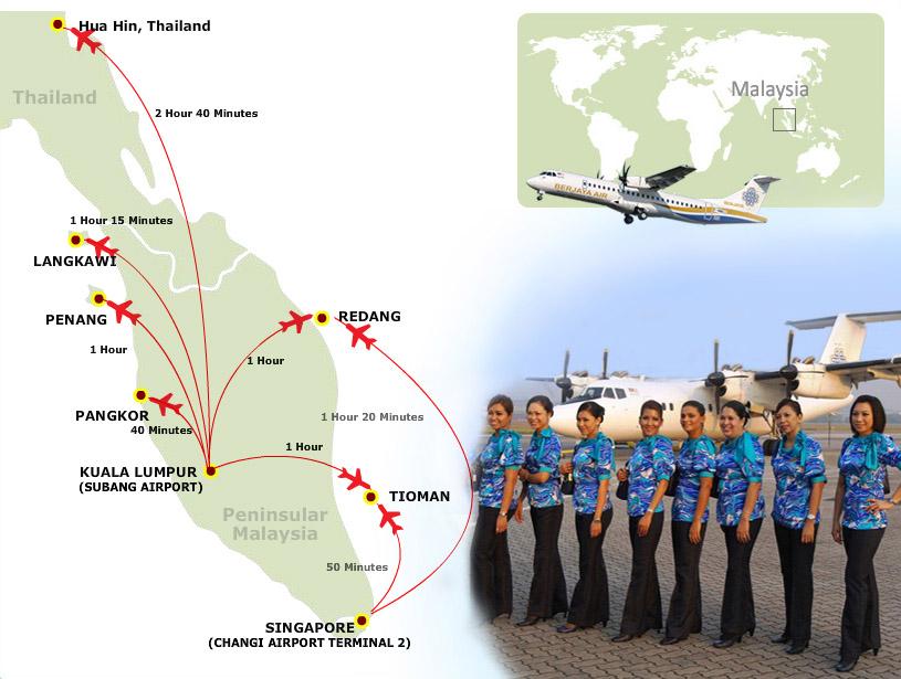 Berjaya Air route map