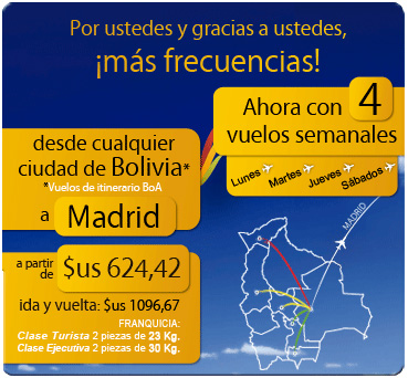 Boliviana de Aviacion route map