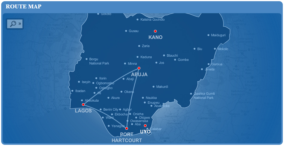 Dana Air route map