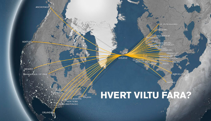 Icelandair route map