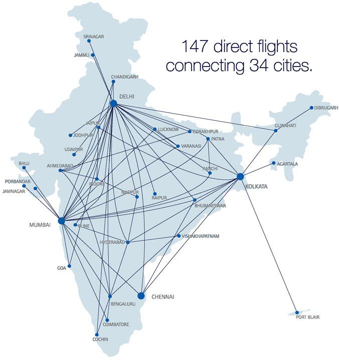 JetLite route map