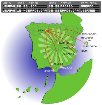 LagunAir route map
