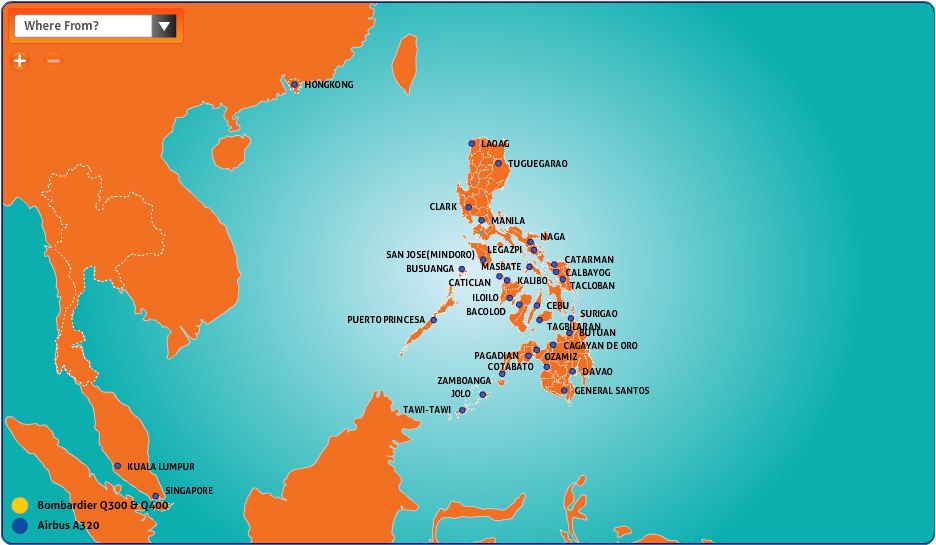 PAL Express route map