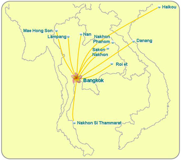 PB Air route map